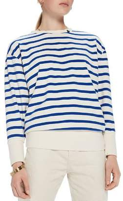 Scotch & Soda Striped Lace-Up Back Sweater
