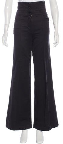 Chanel Chanel High-Waisted Wide-Leg Pants