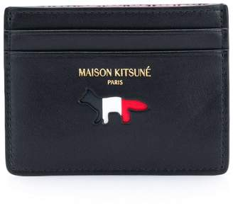 MAISON KITSUNÉ Tricolour card holder