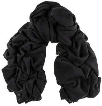 Black Oversized Cashmere Knit Scarf