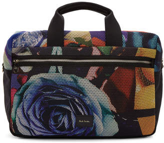 Paul Smith Multicolor Collage Rose 24H Briefcase