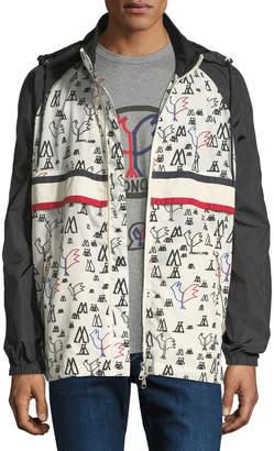 Moncler Men's Genius Allos Printed Zip-Front Jacket