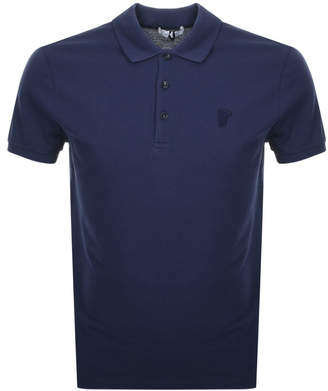 1517236a Versace Blue Polo Shirts For Men - ShopStyle UK