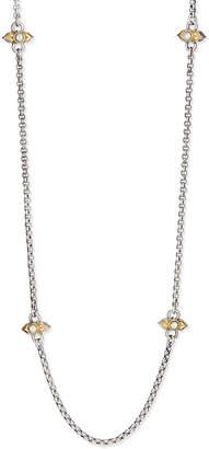 """Konstantino Amphitrite Silver Pearl-Station Necklace, 36""""L"""