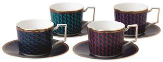 Wedgwood Byzance Teacup and Saucer (Set of 4)