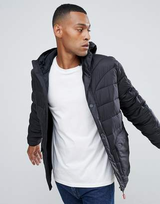 Hunter puffer jacket in black