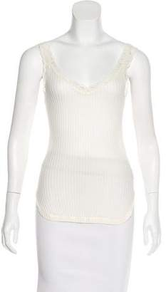 Helmut Lang Lace Trimmed Sleeveless Top