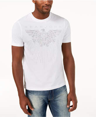 Sean John Men's Mini-Stud Eagle T-Shirt