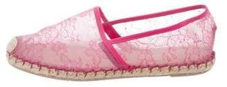 Valentino Lace Espadrille Flats