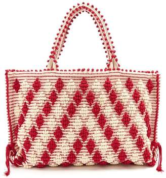 Antonello Tedde - Capriccioli Cotton Tote - Womens - Red White