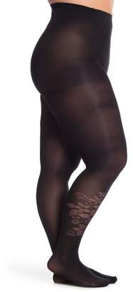 Pretty Polly Curves - Flower Tights (Plus Size)