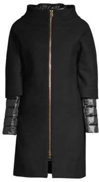 Herno Zip-Front Wool Coat