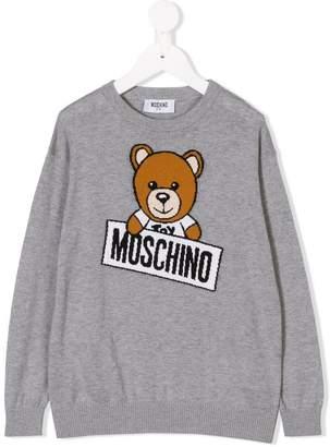 Moschino Kids teddy bear logo sweater