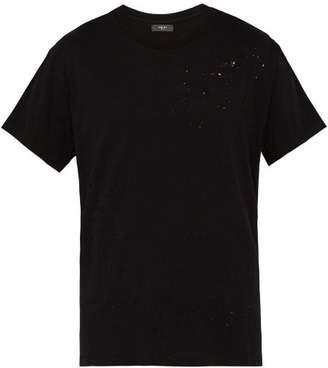 Amiri Shotgun Cotton Jersey T Shirt - Mens - Black