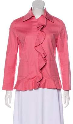 RED Valentino Ruffled Long Sleeve Blazer