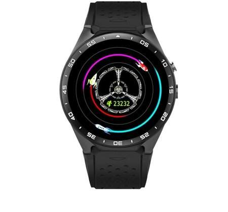 LESHP SmartWatch KW88 Pedometer Heart Rate SmartWatch Anti-lost SmartWatch For Android 5.1 Support Wifi, Black Tarnish