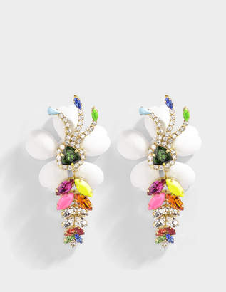Shourouk Exotica Neon Earrings in Multi Brass and Swarovski Crystals
