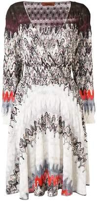 Missoni abstract pattern dress