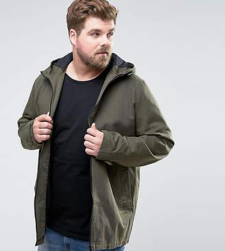 Asos DESIGN PLUS Lightweight Parka Jacket in Khaki