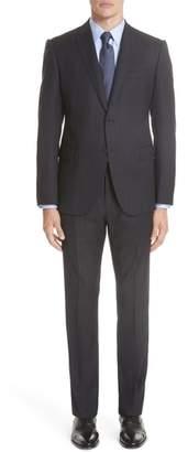 Emporio Armani M-Line Trim Fit Stripe Wool Sport Coat