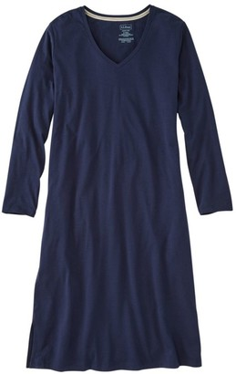 L.L. Bean L.L.Bean Women's Organic Supersoft Shrink-Free Nightgown