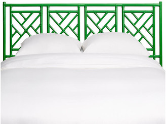 David Francis Furniture Chippendale Headboard - Green