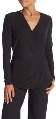 Catherine Malandrino Surplice Long Sleeve Buckle Detailed Shirt