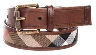 Burberry Nova Check Buckle Belt