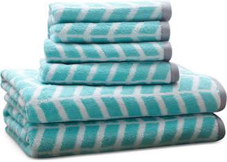 Jla Home Intelligent Design Nadia 6-Pc Cotton Jacquard Towel Set Bedding