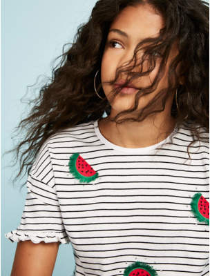 George White Striped Watermelon T-Shirt