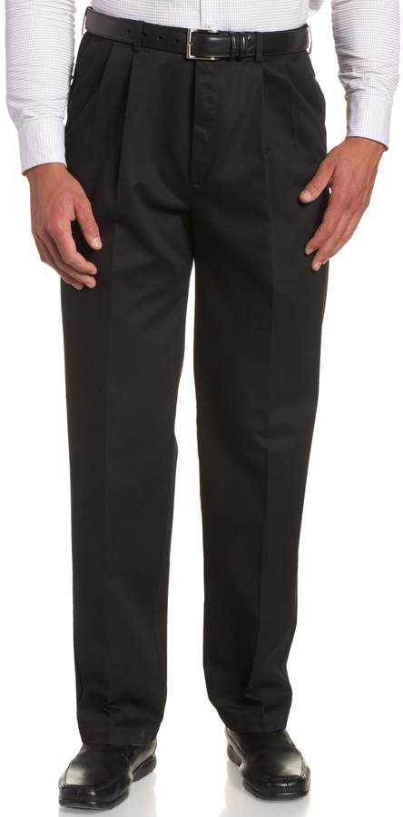 Haggar Men's Work To Weekend Hidden Expandable Waist No Iron Pleat Front Pant