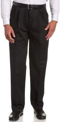 Haggar Men's Work To Weekend Hidden Expandable Waist No Iron Pleat Front Pant,Beige,31x30
