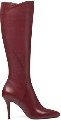 Fame Knee High Boots - Wine Leather