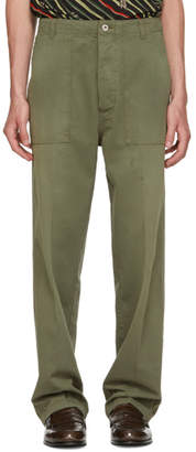 Loewe Green Patch Pocket Trousers
