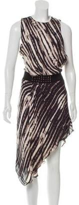 Haute Hippie Printed Silk Dress Beige Printed Silk Dress