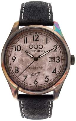 Out of Order Watches - Scarabeo Black 40 Mm
