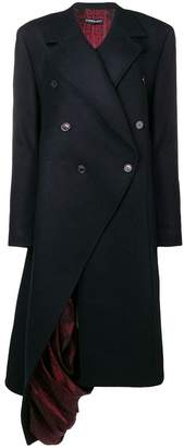 Y/Project Y / Project exposed lining asymmetric coat