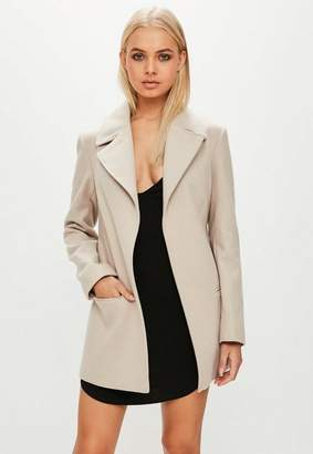Missguided Camel Short Belted Trench Coat