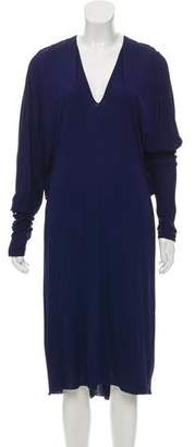 Vionnet Long Sleeve Midi Dress