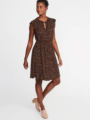 Old Navy Waist-Defined Flutter-Sleeve Dress for Women