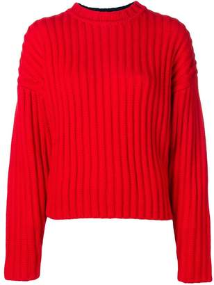 Jil Sander Navy long-sleeve fitted sweater