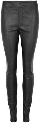 Helmut Lang Black Stretch-leather Leggings