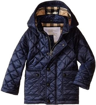 Burberry Kids - Quilted A-Line Jacket Boy's Coat $195 thestylecure.com