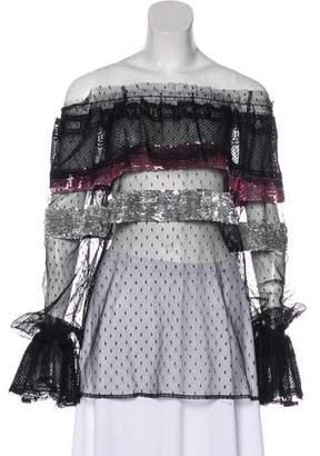 Dolce & Gabbana Sequined Sheer Top