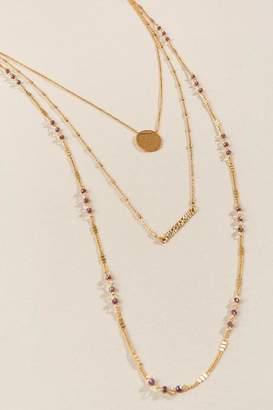 francesca's Tai Multi Layered Necklace - Wine