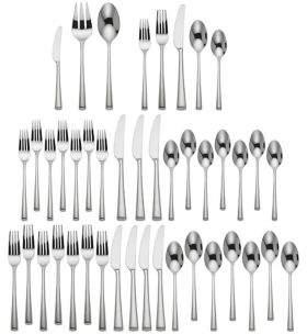 Dansk Bistro Cafe 43-Piece Stainless Steel Flatware Set