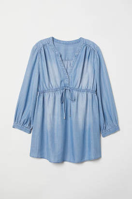 H&M MAMA Lyocell Blouse - Blue