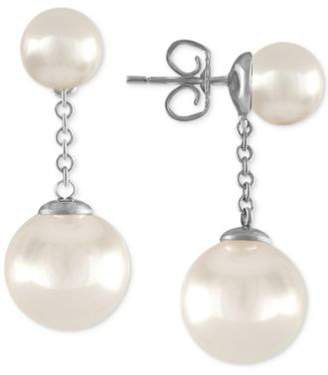 Majorica Gold-Plated Imitation Pearl Drop Earrings