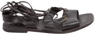Tomas Maier Black Leather Sandals