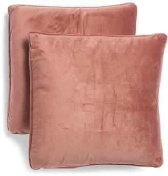 2pk 20x20 Velvet Pillows
